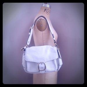 Ivory COACH Bleeker Handbag No C0869-12405